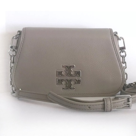 1347021aacb8 Tory Burch Britten Mini Bag French Grey Crossbody